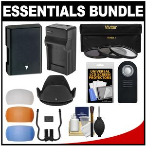 Essentials Bundle D3300 D5300 D5500 Camera and 18-55mm VR Lens with EN-EL14 Battery and Charger and 3 UV-CPL-ND8 Filters and 3 Diffusers and Lens Hood and Kit