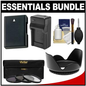 Essentials Bundle for Nikon D5200 D5300 D5500 DSLR Camera and 18-140mm VR Lens with EN-EL14 Battery and Charger + 3 UV-CPL-ND8 Filter Kit