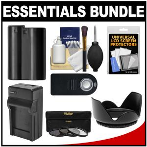 Essentials Bundle for Nikon D7100 and D7200 DSLR Camera and 18-140mm VR Lens with EN-EL15 Battery and Charger + Remote + 3 UV-CPL-ND8 Filter Kit