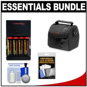 Essentials Bundle for Nikon Coolpix B500 L830 L840 Camera with 4 AA Batteries and Charger and Case and Accessory Kit
