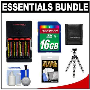 Essentials Bundle for Nikon Coolpix B500 L830 L840 Camera with 4 AA Batteries and Charger and 16GB Card and Flex Tripod and Accessory Kit
