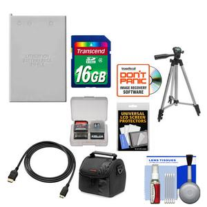 Essentials Bundle for Nikon Coolpix P520 P530 Camera with EN-EL5 Battery + 16GB Card + Case + Tripod + HDMI Cable + Accessory Kit