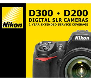 Nikon 2 YR Digital SLR Extended Warranty For D200 / D300 / D300s
