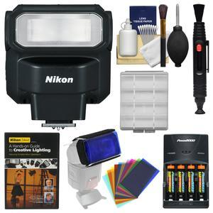 Nikon SB-300 AF Speedlight Flash with Color Gels + Batteries and Charger + Lighting DVD + Kit