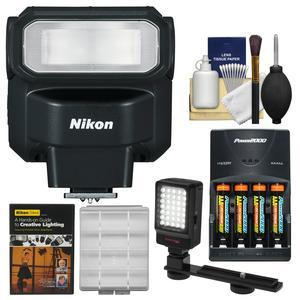 Nikon SB-300 AF Speedlight Flash with Video Light + Batteries and Charger + Lighting DVD + Kit