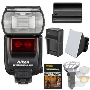 Nikon SB-5000 AF Speedlight Flash with EN-EL15 Battery and Charger + Diffusers