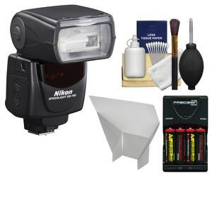 Nikon SB-700 AF Speedlight Flash - Factory Refurbished with Batteries-Charger + Flash Reflector + Cleaning Kit