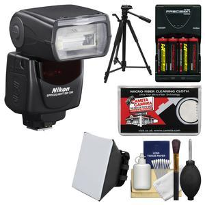 Nikon SB-700 AF Speedlight Flash - Factory Refurbished with Batteries-Charger + Flash Diffuser + Tripod + Kit