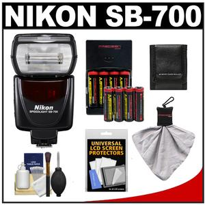 Nikon SB-700 AF Speedlight Flash with-8-Batteries and Charger and Accessory Kit