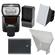 Nikon SB-700 AF Speedlight Flash with EN-EL14 Battery & Charger + Softbox + Reflector for D3300, D3400, D5300, D5500, D5600