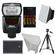Nikon SB-700 AF Speedlight Flash with EN-EL14 & AA Batteries + Tripod + Softbox + Reflector for D3300, D3400, D5500, D5600