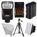 Nikon SB-700 AF Speedlight Flash with EN-EL15 & Batteries + Tripod + Softbox + Reflector for D7100, D7200, D610, D750, D810