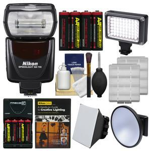 Nikon SB-700 AF Speedlight Flash with Soft Box + Video Light + Diffuser + Batteries and Charger + Lighting DVD + Kit