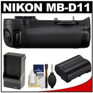Nikon MB-D11 Grip Multi-Power Battery Pack for the D7000 Digital SLR Camera with EN-EL15 Battery & Charger + Cleaning Kit