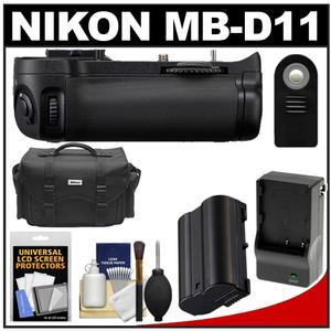 Nikon MB-D11 Grip Multi-Power Battery Pack for the D7000 Digital SLR Camera with EN-EL15 Battery & Charger + Case + ML-L3 Remote + Accessory Kit