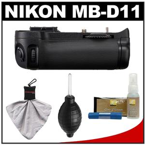 Nikon MB-D11 Grip Multi-Power Battery Pack for the D7000 Digital SLR Camera with Cleaning & Accessory Kit