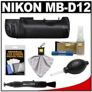 Nikon MB-D12 Grip Multi Power Battery Pack for the D800 & D800E Digital SLR Camera with Nikon Cleaning & Accessory Kit