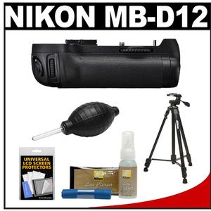 "Nikon MB-D12 Grip Multi Power Battery Pack for the D800 & D800E Digital SLR Camera with Nikon 60"" Tripod & 3-Way Panhead + Accessory Kit"