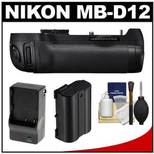 Nikon MB-D12 Grip Multi Power Battery Pack for the D800 & D800E Digital SLR Camera with Battery & Charger + Cleaning Kit