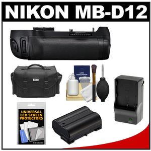 Nikon MB-D12 Grip Multi Power Battery Pack for the D800 & D800E Digital SLR Camera with Case + Battery & Charger + Accessory Kit