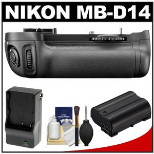 Nikon MB-D14 Grip Multi Power Battery Pack for the D600 Digital SLR Camera with EN-EL15 Battery & Charger + Cleaning Kit