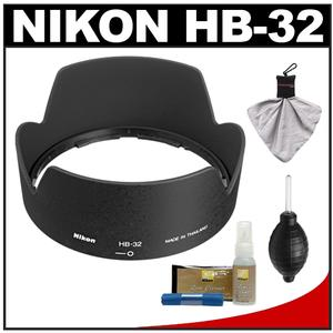 Nikon HB-32 Bayonet Lens Hood for 18-70mm 18-135mm 18-105mm 18-140mm VR DX Nikkor Lens with Cleaning Kit