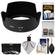 Nikon HB-69 Bayonet Lens Hood for 18-55mm G VR II DX AF-S with 3 UV/CPL/ND8 Filters + Accessory Kit