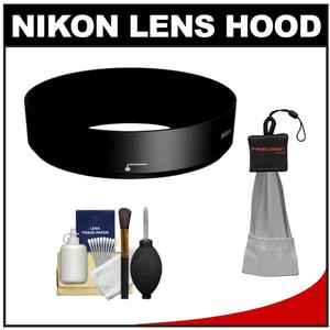 Nikon HB-N101 Bayonet Lens Hood for Nikon 1 10-30mm VR-Black-with Cleaning Kit