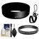 Nikon HB-N101 Bayonet Lens Hood for Nikon 1 10-30mm VR (Black) with 40.5mm UV Filter + Cleaning & Accessory Kit