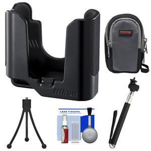 Nikon ET-AA1 Tripod Adapter for KeyMission 80 Digital Camera with Case + Selfie Stick + Mini Tripod + Kit