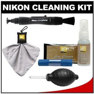 Buy Nikon Digital Camera and Lens Cleaning Kit with Nikon Cloths Fluid LensPen Lens Cloth Spudz + Hurricane Blower Before Special Offer Ends