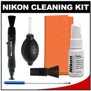 Nikon Digital Camera and Lens Cleaning Kit with Nikon Optics Cleaning Kit LensPen + Hurricane Blower