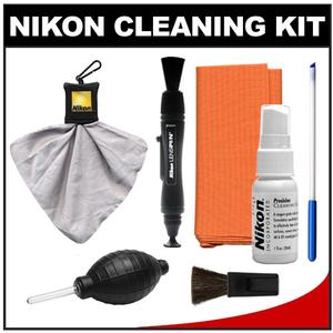 Nikon Digital Camera and Lens Cleaning Kit with Nikon Optics Cleaning Kit  LensPen  Lens Cloth Spudz + Hurricane Blower