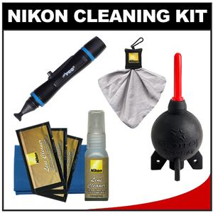 Nikon Digital Camera and Lens Cleaning Kit with Nikon Clothes Fluid LensPen Lens Cloth Spudz + Giottos Rocket Blower