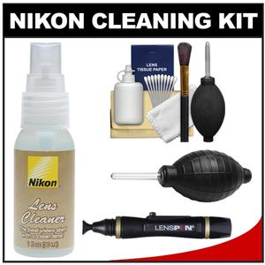 Nikon Lens Cleaner Fluid Spray Bottle-1oz-30ml-with Hurricane Blower and Lenspen and Cleaning Kit