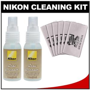 Nikon Lens Cleaner Fluid Spray Bottle - 1oz-30ml - with Additional Lens Cleaner + 6 Microfiber Cleaning Cloths