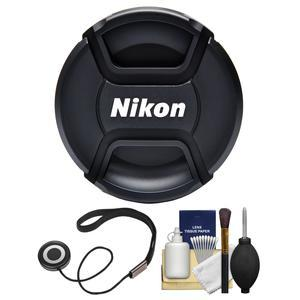 Nikon LC-62 62mm Snap-On Lens Cap with Cap Keeper + Lens Cleaning Kit