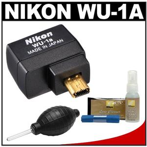 Nikon WU-1a Wireless Wi-Fi Mobile Adapter-Sends Images to your iPhone or Android-with Cleaning Kit for Coolpix A P520 P530 P7800 DF D3200 D3300 D5200 D7100 Camera
