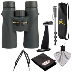 Nikon Monarch 3 8x42 ATB Waterproof-Fogproof Binoculars with Case and Harness and Tripod Adapter and Monopod and Kit