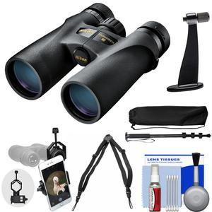 Nikon Monarch 3 8x42 ATB Waterproof-Fogproof Binoculars with Case and Harness and Smartphone Adapter and Tripod Adapter and Monopod and Cleaning Kit