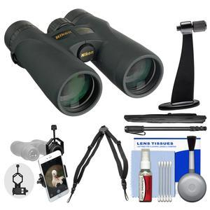 Nikon Monarch 3 8x42 ATB Waterproof - Fogproof Binoculars with Case + Harness + Smartphone Adapter + Tripod Adapter + Monopod + Cleaning Kit