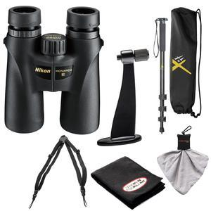 Nikon Monarch 3 10x42 ATB Waterproof-Fogproof Binoculars with Case and Harness and Tripod Adapter and Monopod and Kit