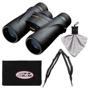 Nikon Monarch 5 8x42 ED ATB Waterproof - Fogproof Binoculars with Case + Easy Carry Harness + Cleaning Cloth Kit