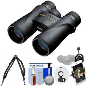 Nikon Monarch 5 8x42 ED ATB Waterproof - Fogproof Binoculars with Case + Harness + Smartphone Adapter + Cleaning Kit