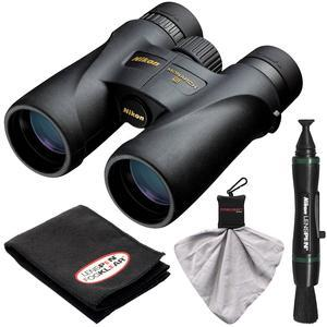 Nikon Monarch 5 10x42 ED ATB Waterproof - Fogproof Binoculars with Case + Cleaning + Accessory Kit
