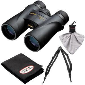 Nikon Monarch 5 10x42 ED ATB Waterproof-Fogproof Binoculars with Case and Easy Carry Harness and Cleaning Cloth Kit