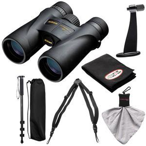 Nikon Monarch 5 10x42 ED ATB Waterproof-Fogproof Binoculars with Case and Harness and Tripod Adapter and Monopod and Kit
