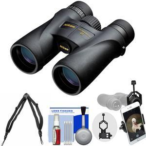 Nikon Monarch 5 10x42 ED ATB Waterproof-Fogproof Binoculars with Case and Harness and Smartphone Adapter and Cleaning Kit