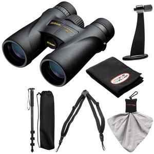 Nikon Monarch 5 12x42 ED ATB Waterproof-Fogproof Binoculars with Case and Harness and Tripod Adapter and Monopod and Kit