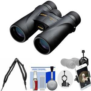 Nikon Monarch 5 12x42 ED ATB Waterproof-Fogproof Binoculars with Case and Harness and Smartphone Adapter and Cleaning Kit